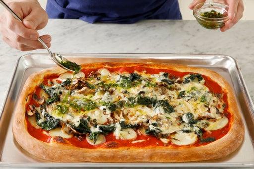 Make the garlic oil & serve your dish: