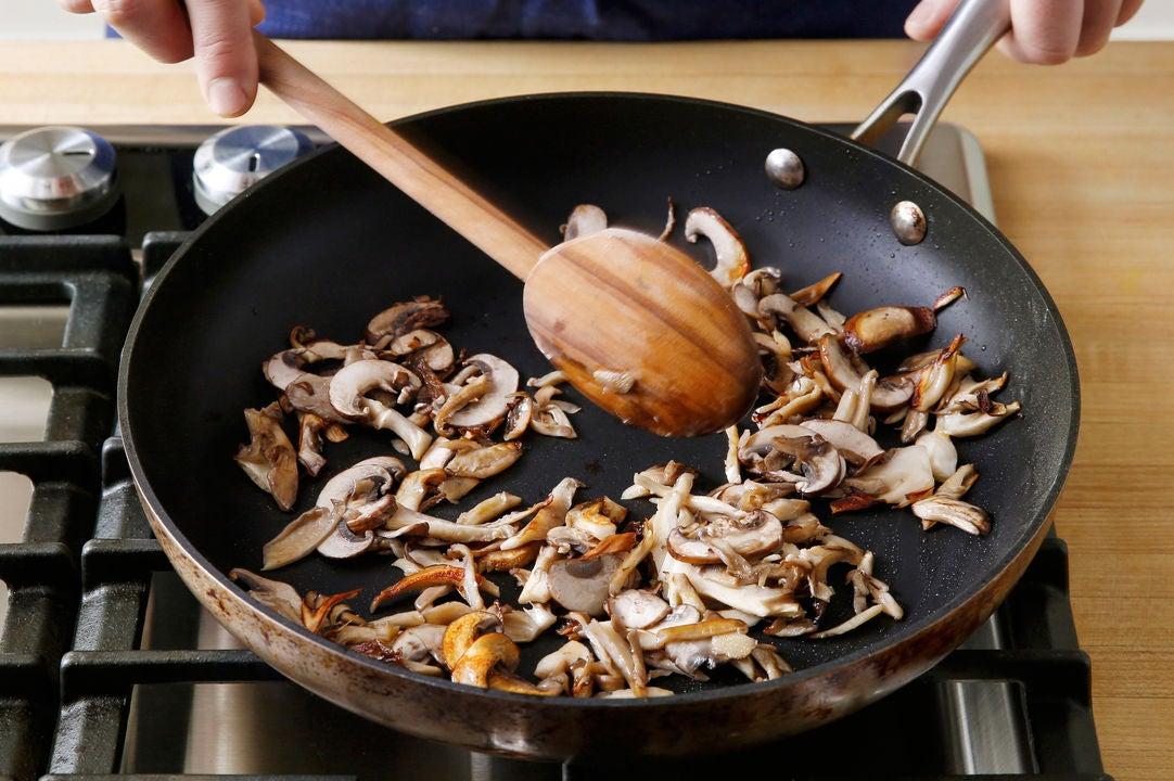 Brown the mushrooms: