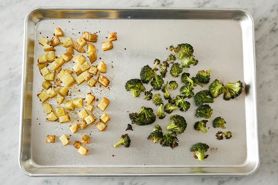 Roast the vegetables: