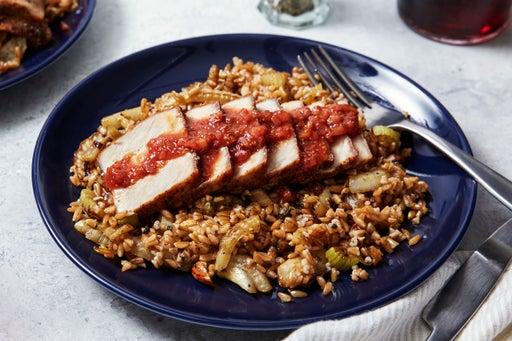 Cumin-Crusted Pork with Fig & Blood Orange Pan Sauce