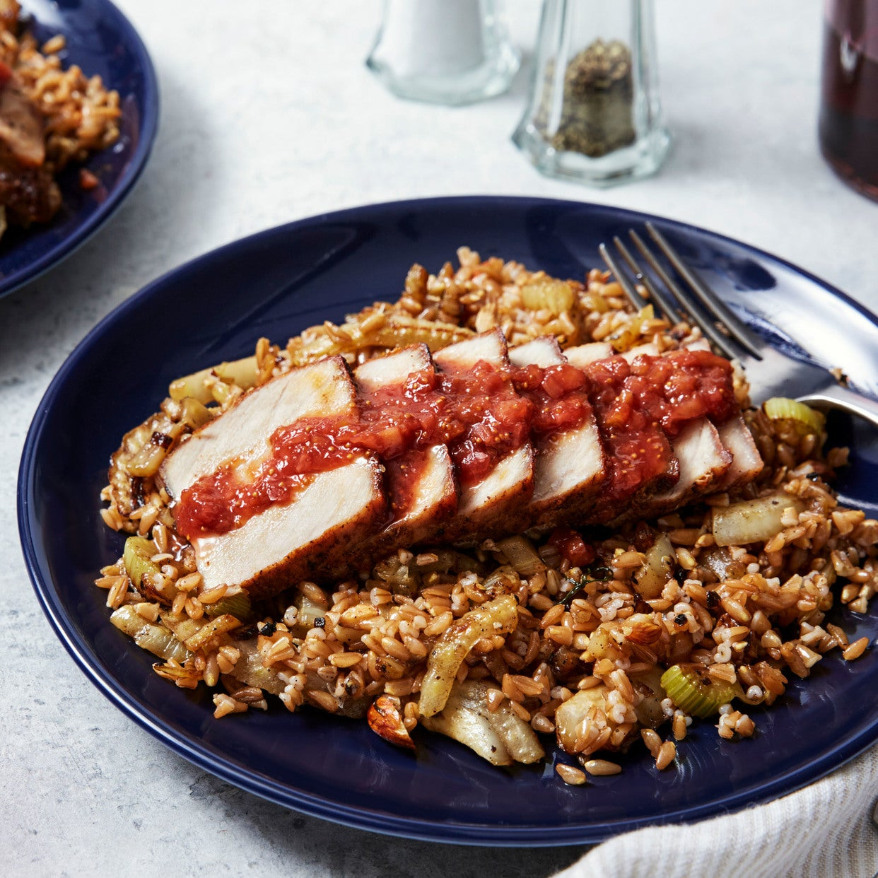 Cumin-Crusted Pork with Fig & Blood Orange Pan Sauce