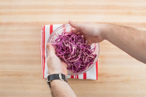 Make the cabbage salad: