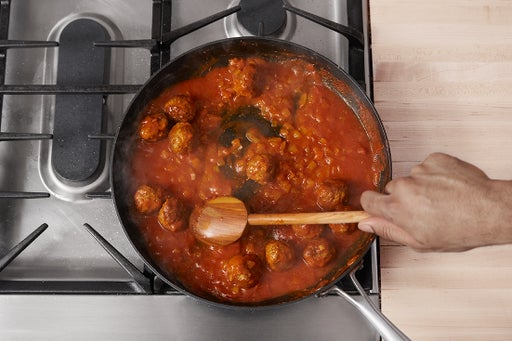 Cook the meatballs & make the sauce: