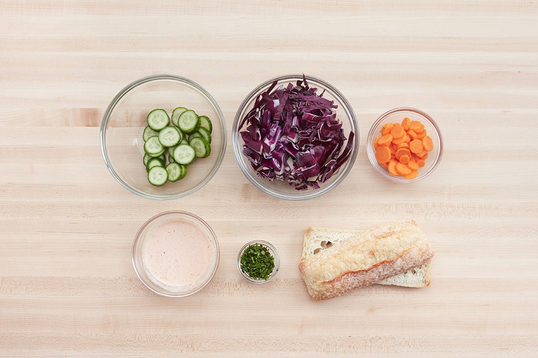 Prepare the ingredients & make the spicy mayonnaise: