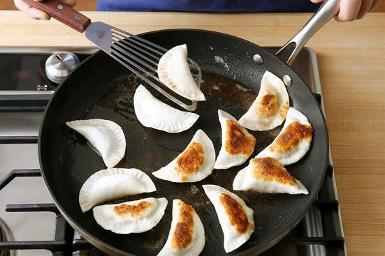 Cook the dumplings & plate your dish: