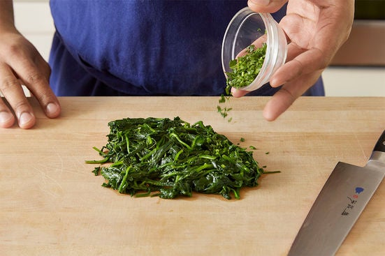 Cook & chop the greens: