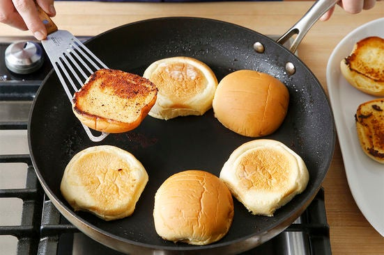 Toast the buns: