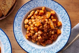 Spiced Chicken Chili with Chickpeas & Currants