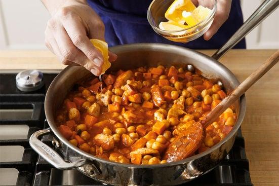 Finish the chili: