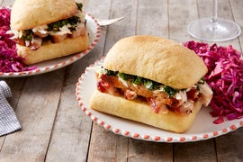 Philly-Style Turkey Sandwiches with Broccoli Rabe & Cabbage Slaw