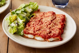 Baked Ricotta Cannelloni with Romaine Salad & Meyer Lemon Dressing