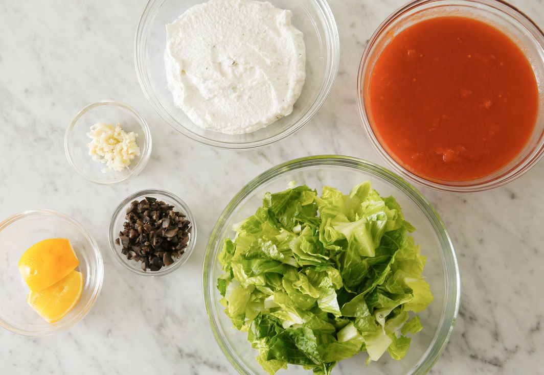 Prepare the ingredients & make the filling: