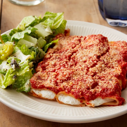 Recipe: Baked Ricotta Cannelloni with Romaine Salad ...