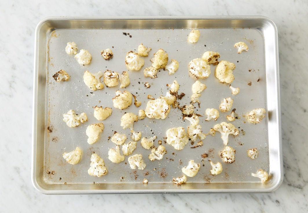 Roast the cauliflower:
