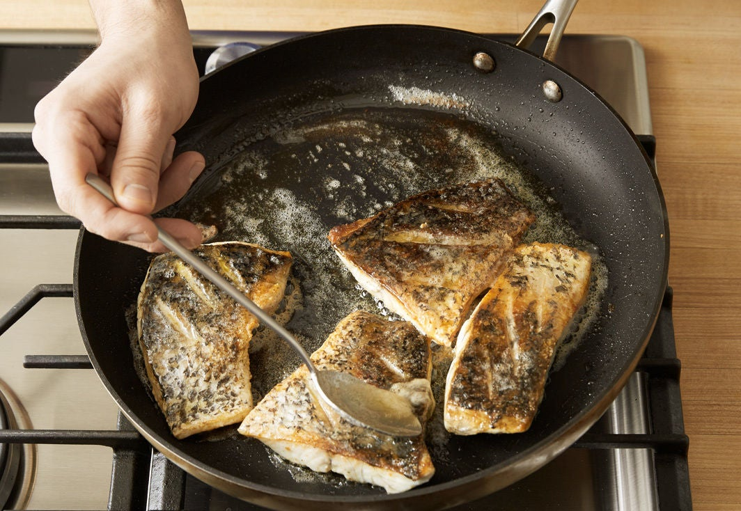 Cook the barramundi & plate your dish: