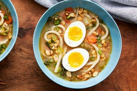 Udon Noodle Soup with Miso & Soft-Boiled Eggs