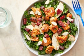 Seared Chicken & Kale Salad with Apple & Creamy Mustard Dressing