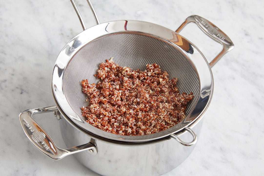 Cook the quinoa: