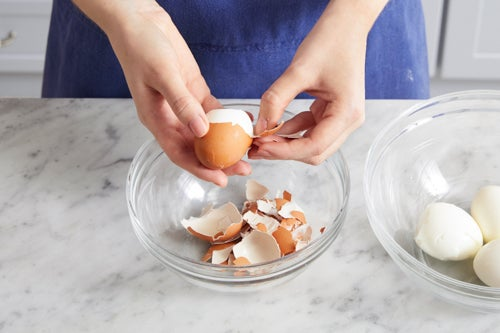 Make the soft-boiled eggs:
