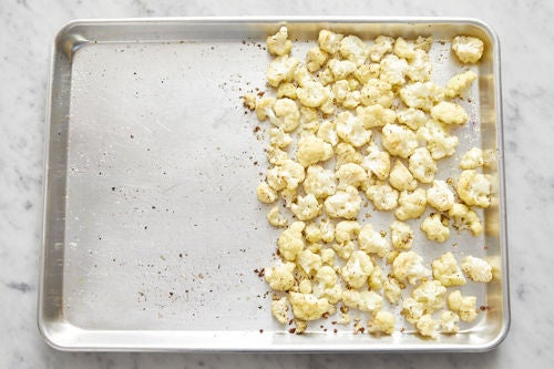 Prepare & start the cauliflower: