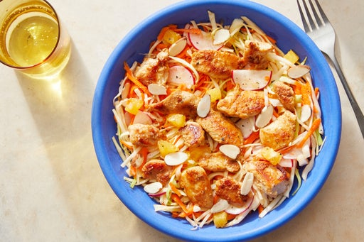 Chicken & Cabbage Salad with Sesame & Soy Dressing