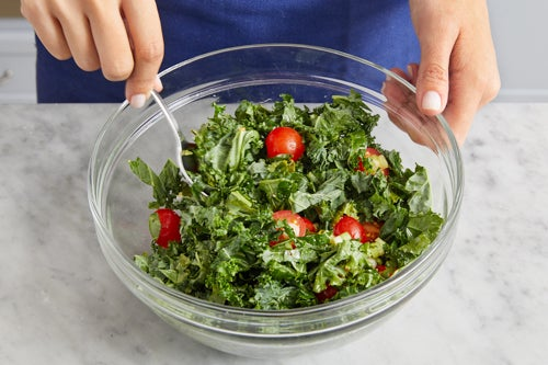 Finish the kale & serve your dish: