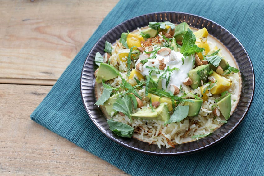 Aromatic Basmati Rice Pilaf with Baby Pattypan Squash