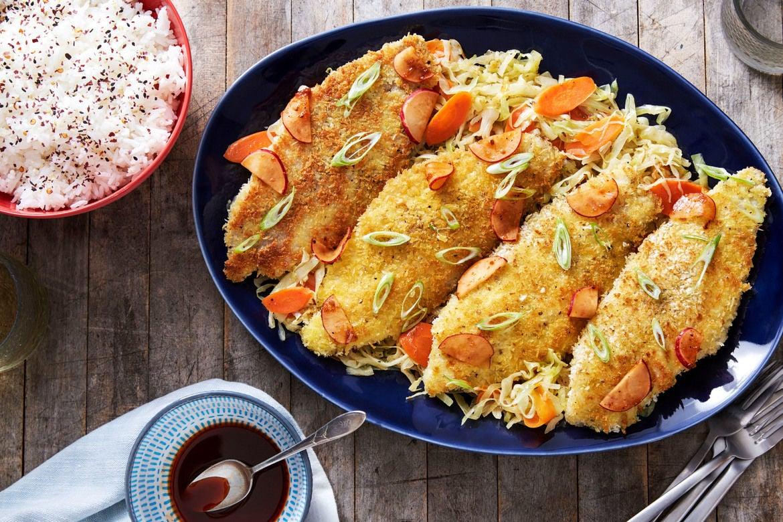 Blue apron katsu catfish - Catfish Katsu Yakiniku Sauce With Sesame Cabbage Jasmine Rice