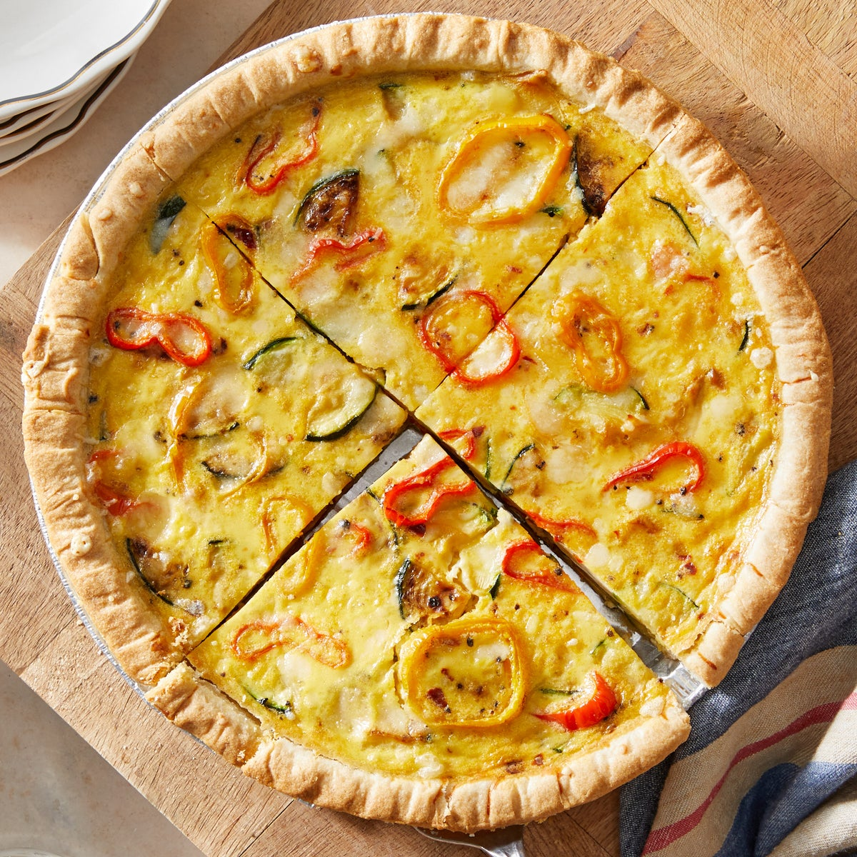 Cheesy Vegetable Quiche with Ranch-Dressed Broccoli