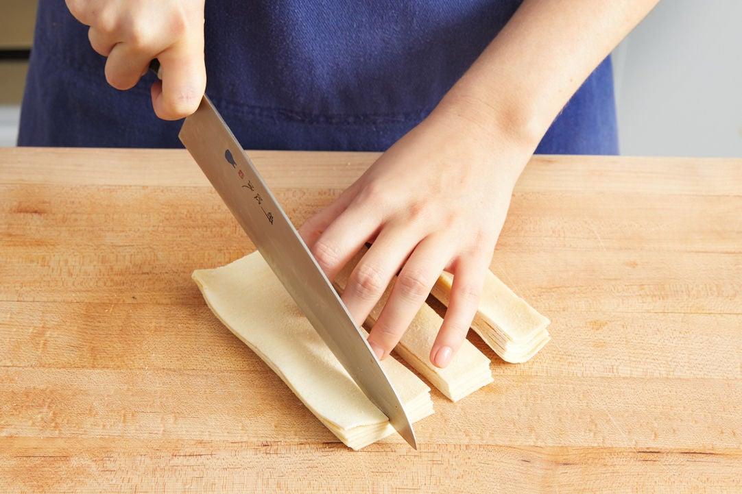 Prepare the pasta: