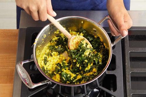 Finish the saffron rice & serve your dish: