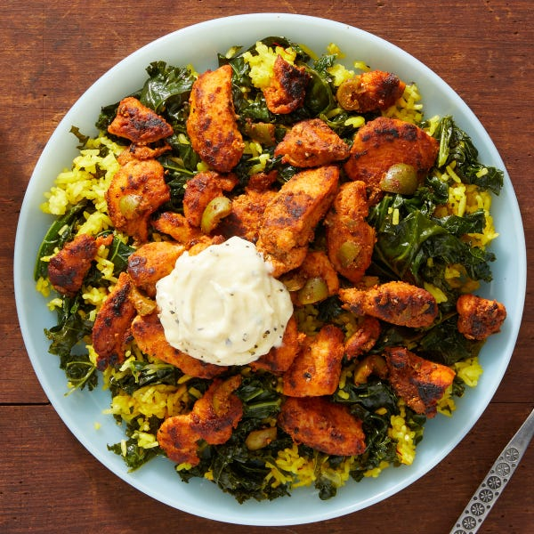 Smoky Chicken & Aioli with Saffron Rice & Olives