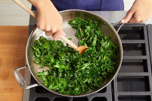 Cook & finish the kale: