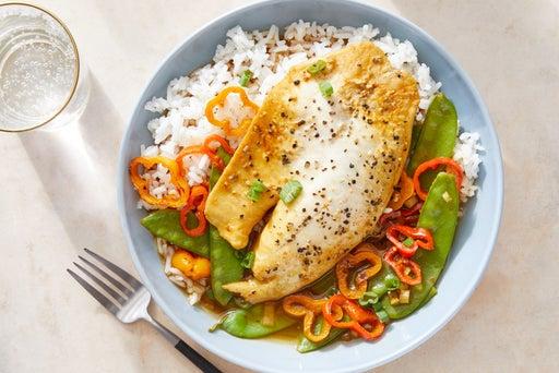 Yellow Curry & Lemongrass Tilapia with Jasmine Rice