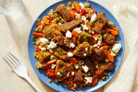 Moroccan-Style Chicken & Lentils with Tomatoes & Feta Cheese