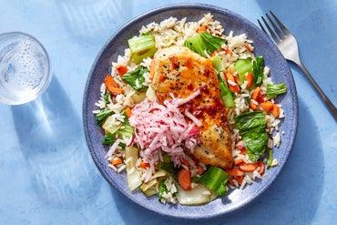 Gochujang-Glazed Chicken with Vegetables & Jasmine Rice