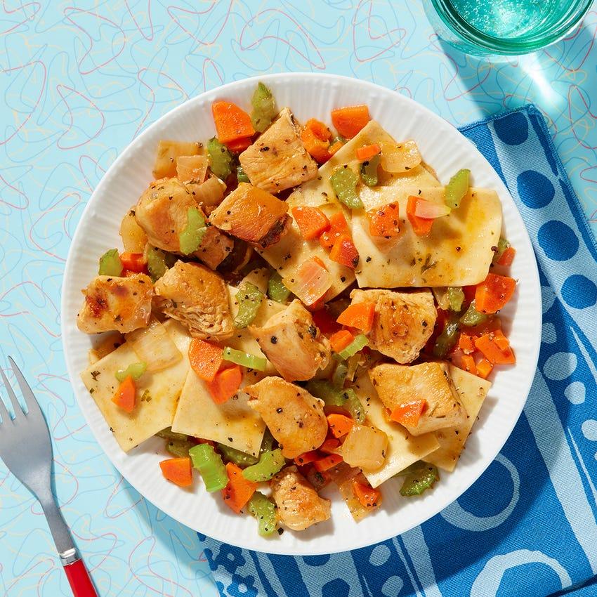 Pennsylvania Dutch-Style Chicken Pot Pie with Carrots, Celery & Onion