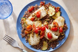 Seared Wild Alaskan Pollock with Quinoa & Sautéed Vegetables