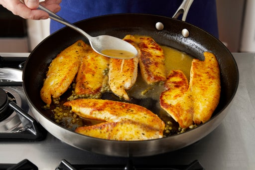 Cook the fish & make the sauce: