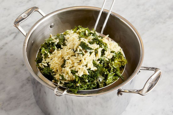 Cook the pasta & kale: