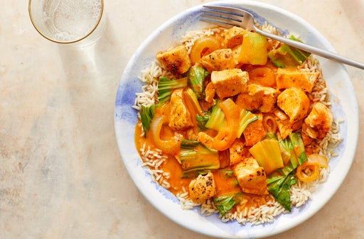 Coconut Chicken & Bok Choy Curry with Brown Rice