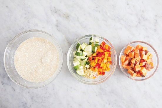 Prepare the ingredients & start the broth:
