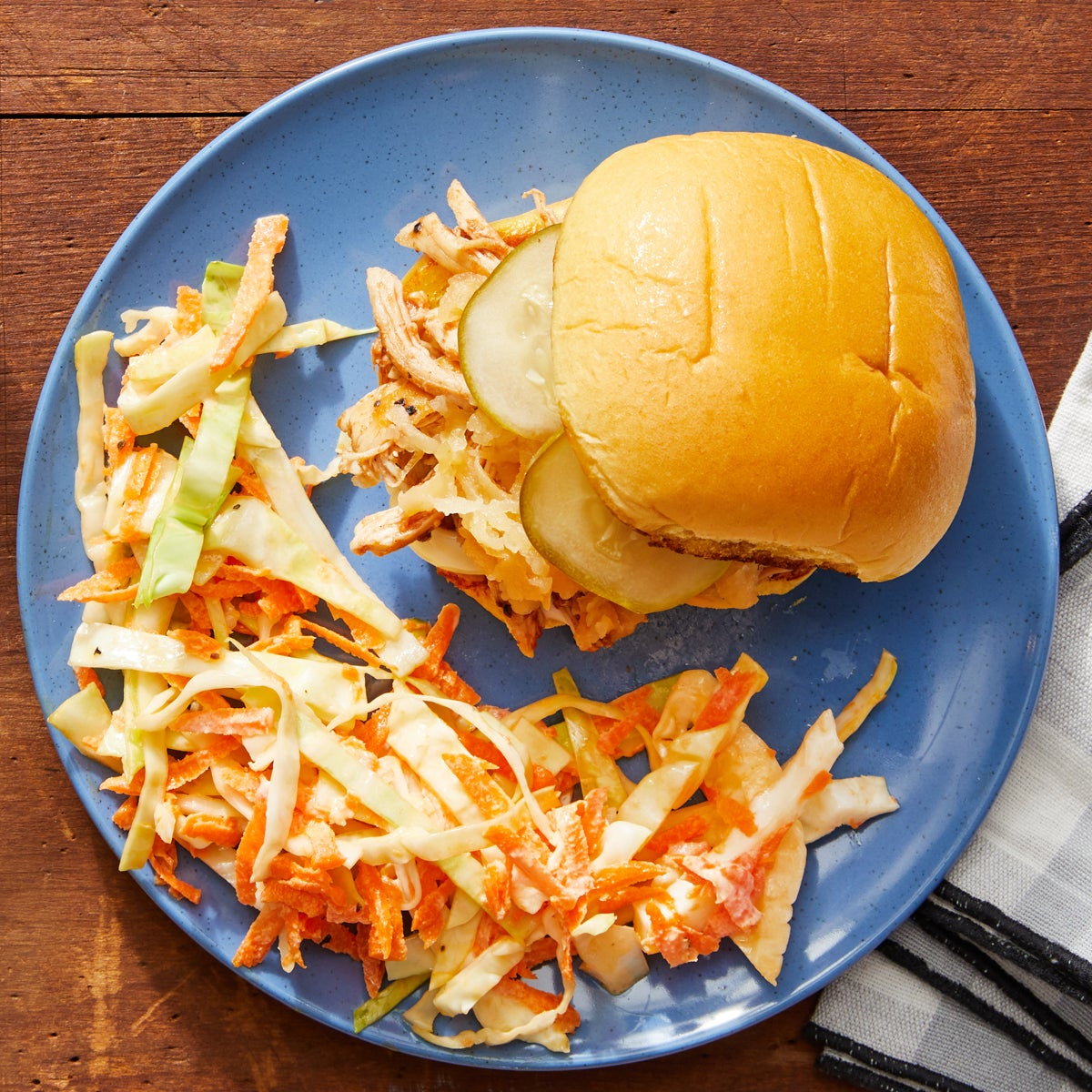 BBQ Chicken Sandwiches with Brown Sugar-Glazed Apple & Cabbage Slaw