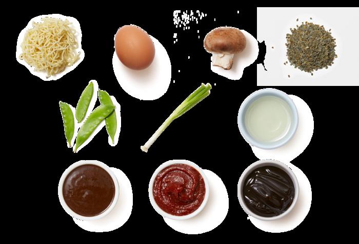 Spring Pea & Mushroom Ramen with a Soft-Boiled Egg