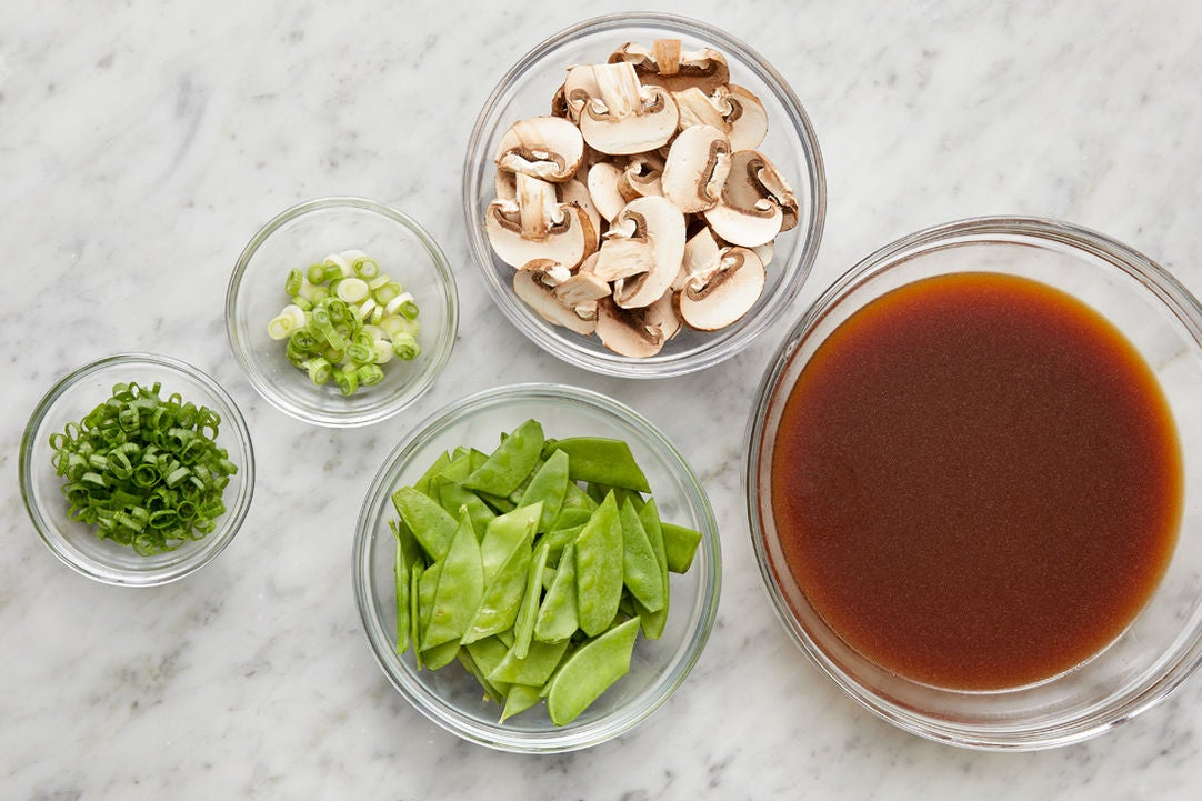 Prepare the ingredients & start the broth: