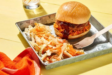Martin's Bar-B-Que-Style Pork Burgers with Pimento Cheese & Coleslaw