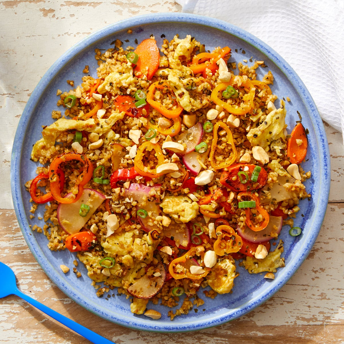 "Vegetable  & Freekeh ""Fried Rice"" with Kombu & Peanuts"