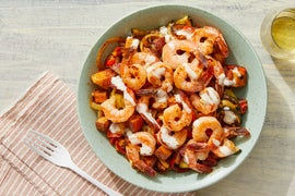 Spanish-Style Shrimp & Potatoes with Lemon Aioli
