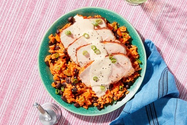 Cajun-Style Pork Roast with Red Rice & Beans