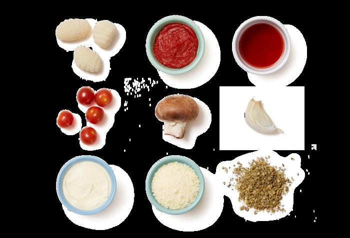 Creamy Tomato & Mushroom Gnocchi with Pecorino